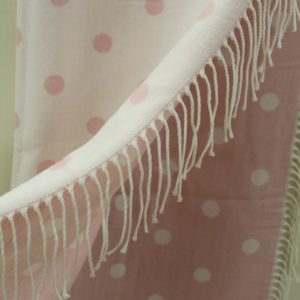 Clayre & Eef Tagesdecke Plaid LOVELY rosa/weiß