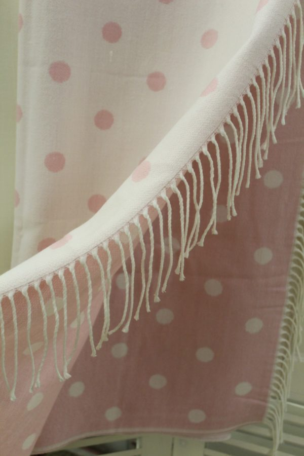Clayre Eef Plaid.Clayre Eef Tagesdecke Plaid Lovely Rosa Weiss
